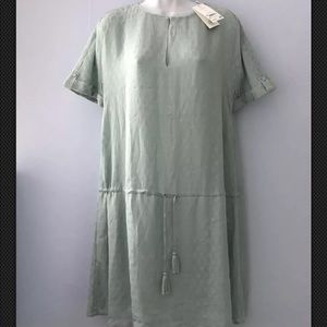 NWT Tory Burch silk dress loose style in mint